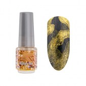 Water Ink Marble Ακουαρέλα Nail Art Gold